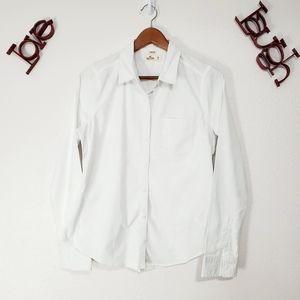 Hollister Women's Button Down Dress Shirt  Stretch